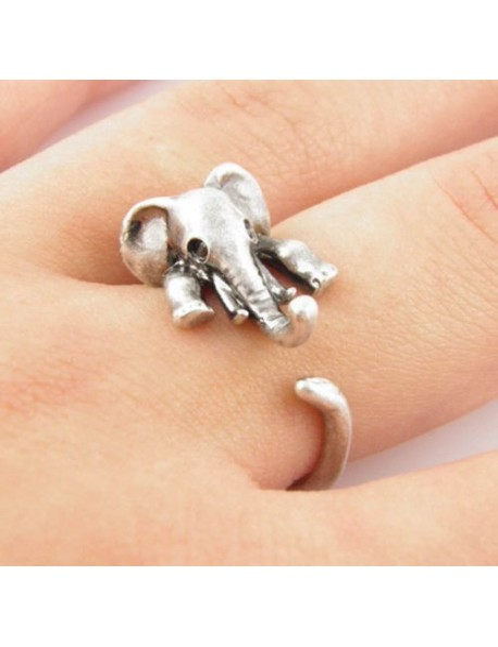 Anillo ajustable diseño de Elefante
