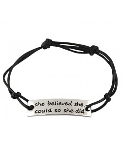 Pulsera She Believed She Could So She Did