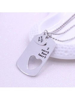 "Collar para pareja ""I carry your heart with me"""