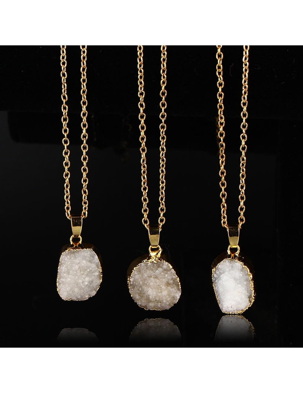 Collar Gemstone con dije de piedra natural