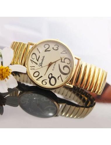 Reloj Elástico Geneva color Dorado