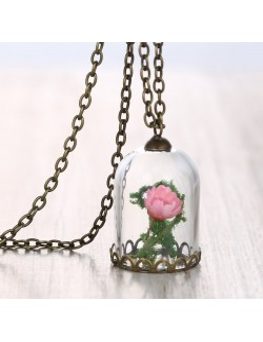 Collar Encapsulado Rosa del Principito