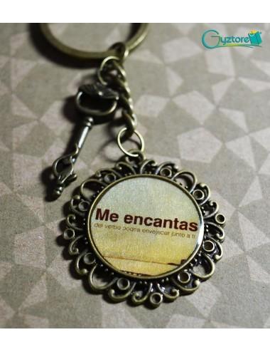 """Llavero Artesanal """"Me encantas"""""""