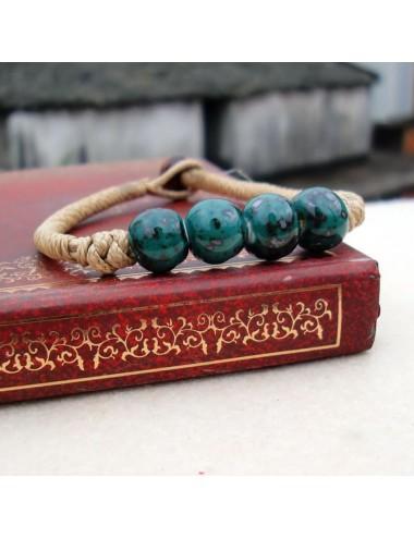 Brazalete beads de cerámica redondos