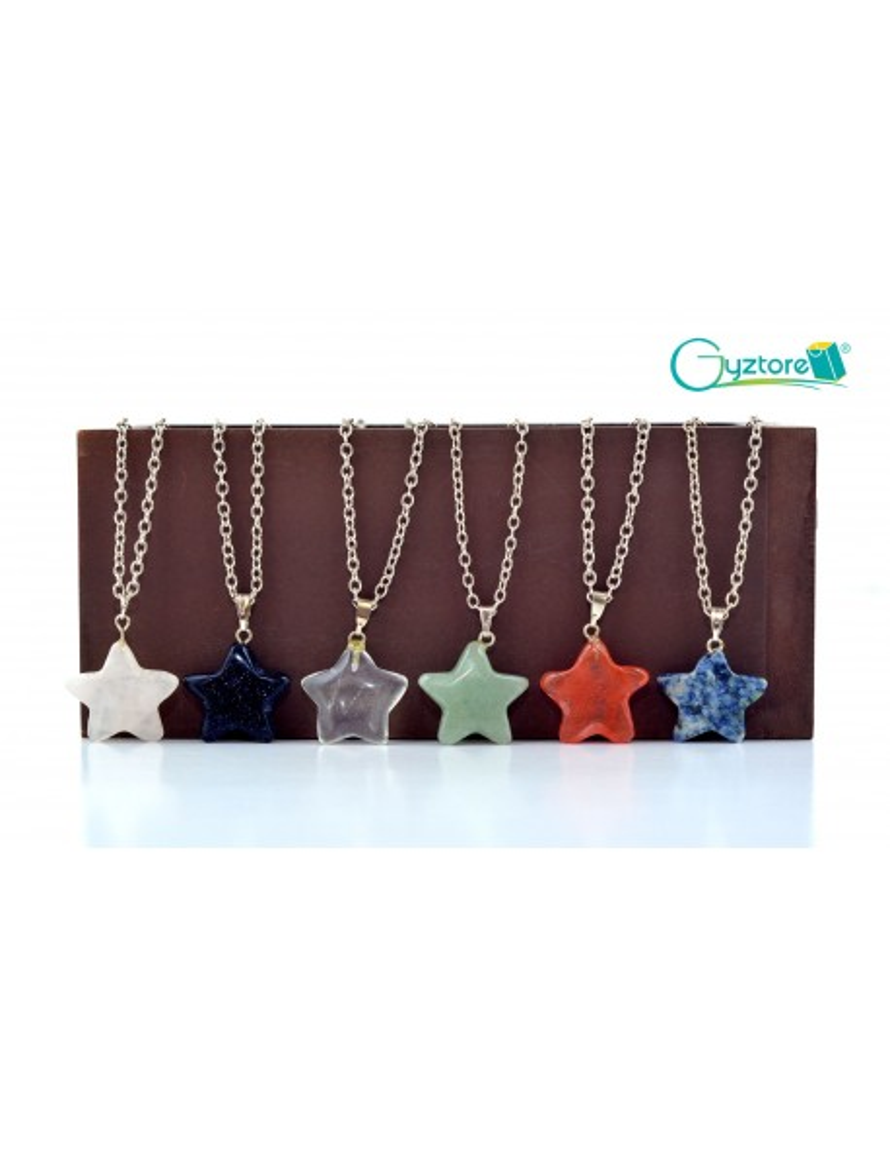 Collar Gemstone plateado forma de estrella