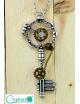 Collar de llave antigua vintage