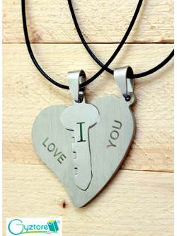 Collar Doble I love you Corazón Llave