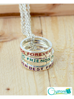 Collar Triple Best Friends Anillos
