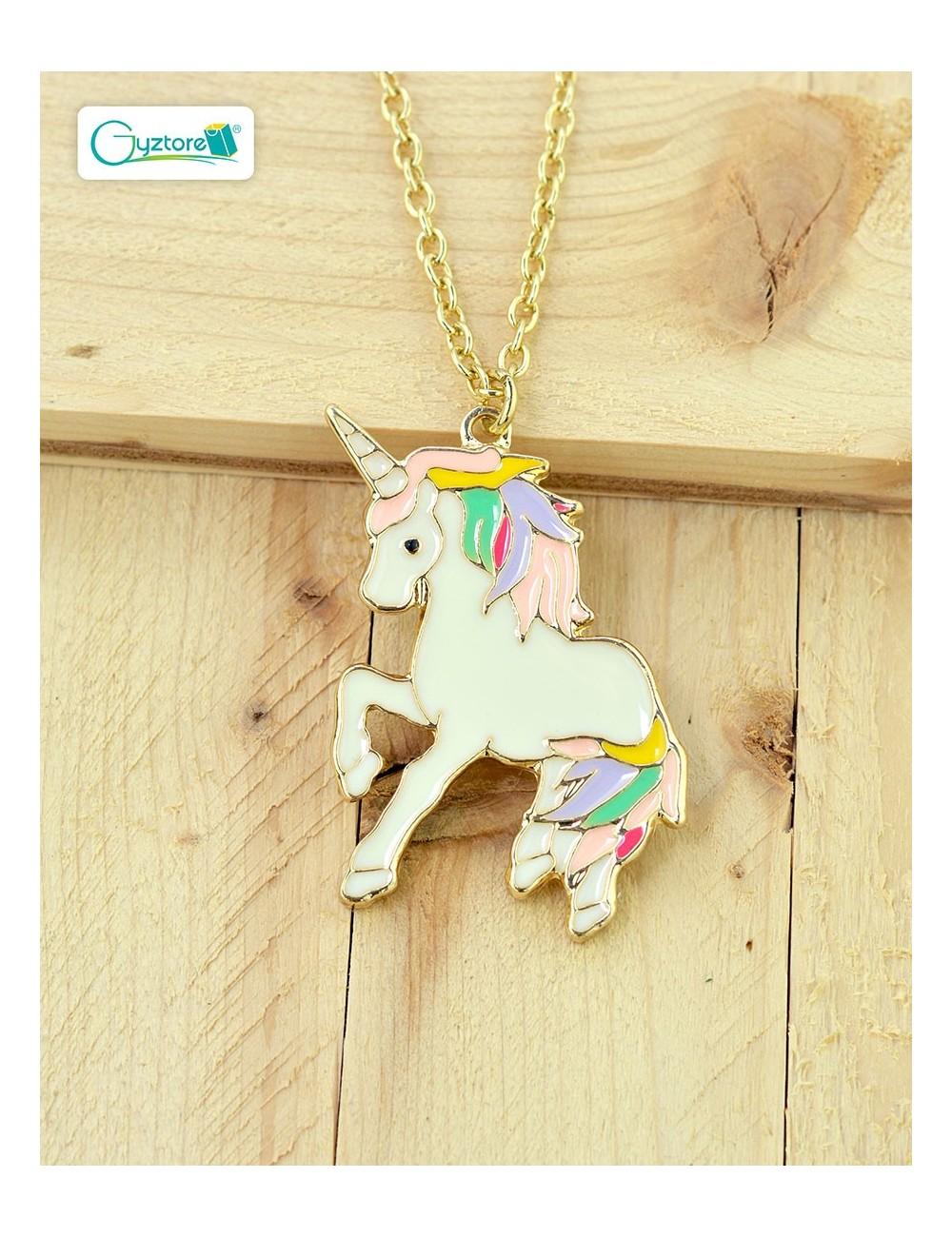 Collar de unicornio dorado