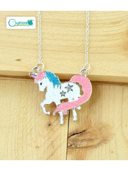 Collar de unicornio con escarcha
