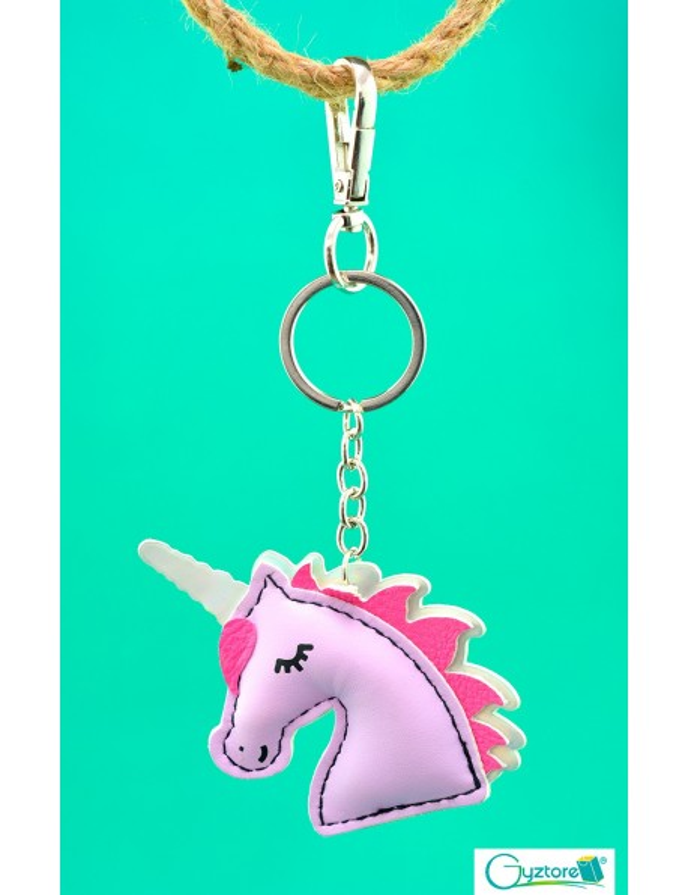 Llavero diseño de unicornio con tornasol