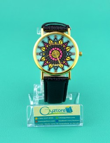 Reloj negro tribal de colores