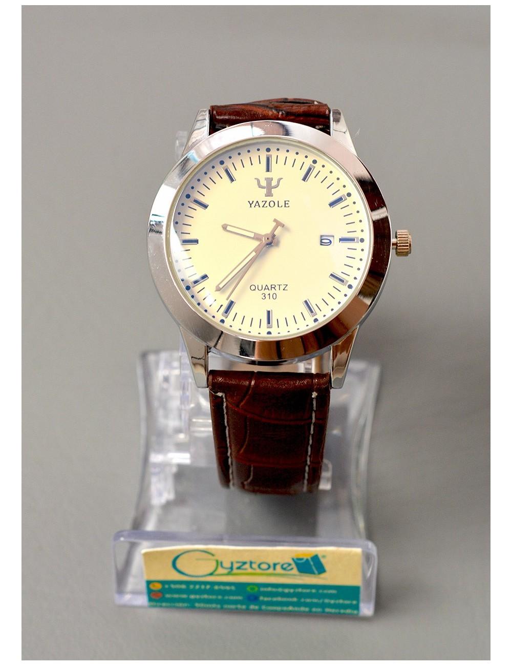 Reloj de vestir elegante color café