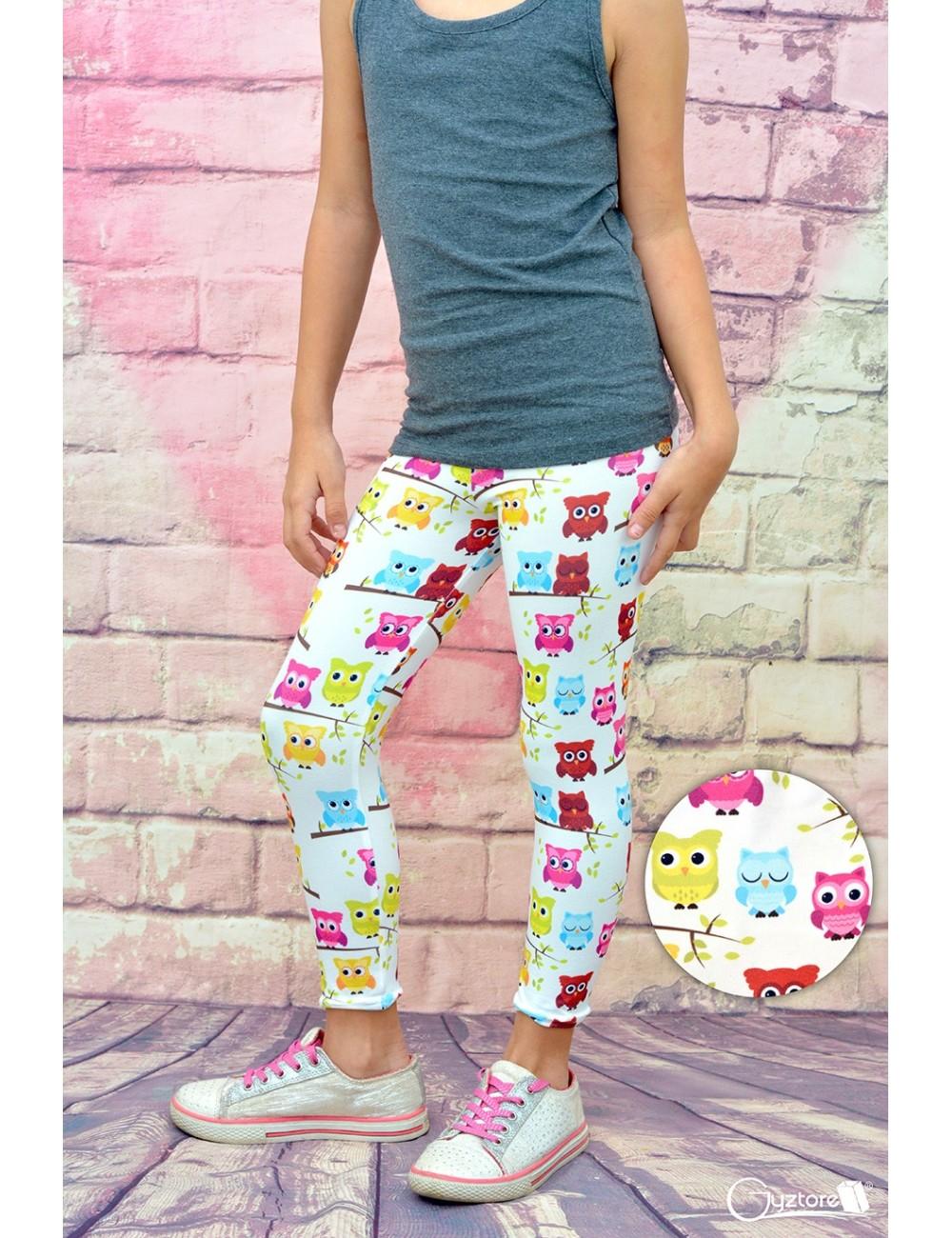 Licras para niñas diseño Búhos