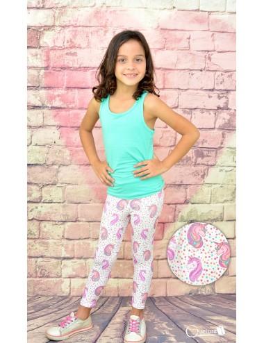 Licras para niñas diseño Unicornio Rosado