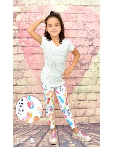 Licras para niñas diseño de Piñas