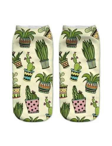 Medias unisex con diseño de cactus