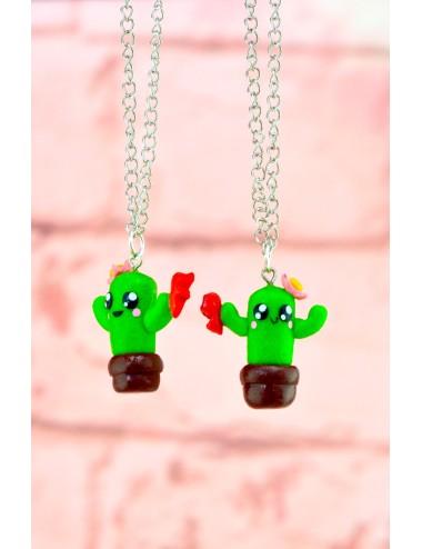 Collar doble diseño de Cactus