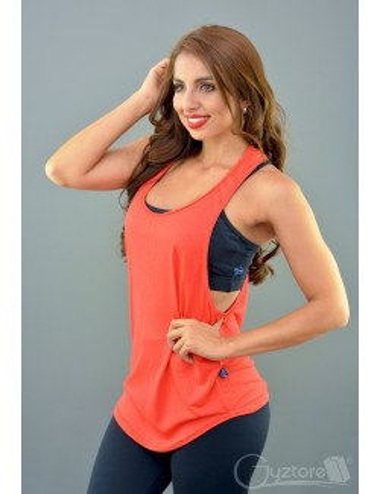 Blusa deportiva tirante grueso color anaranjado