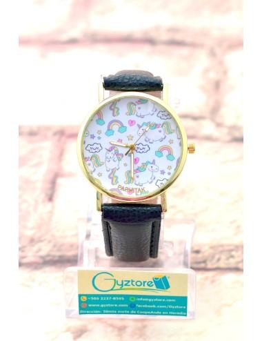 Reloj de Unicornios y Arcoiris