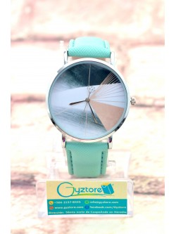 Reloj Casual Color Menta Diseño de Diamante