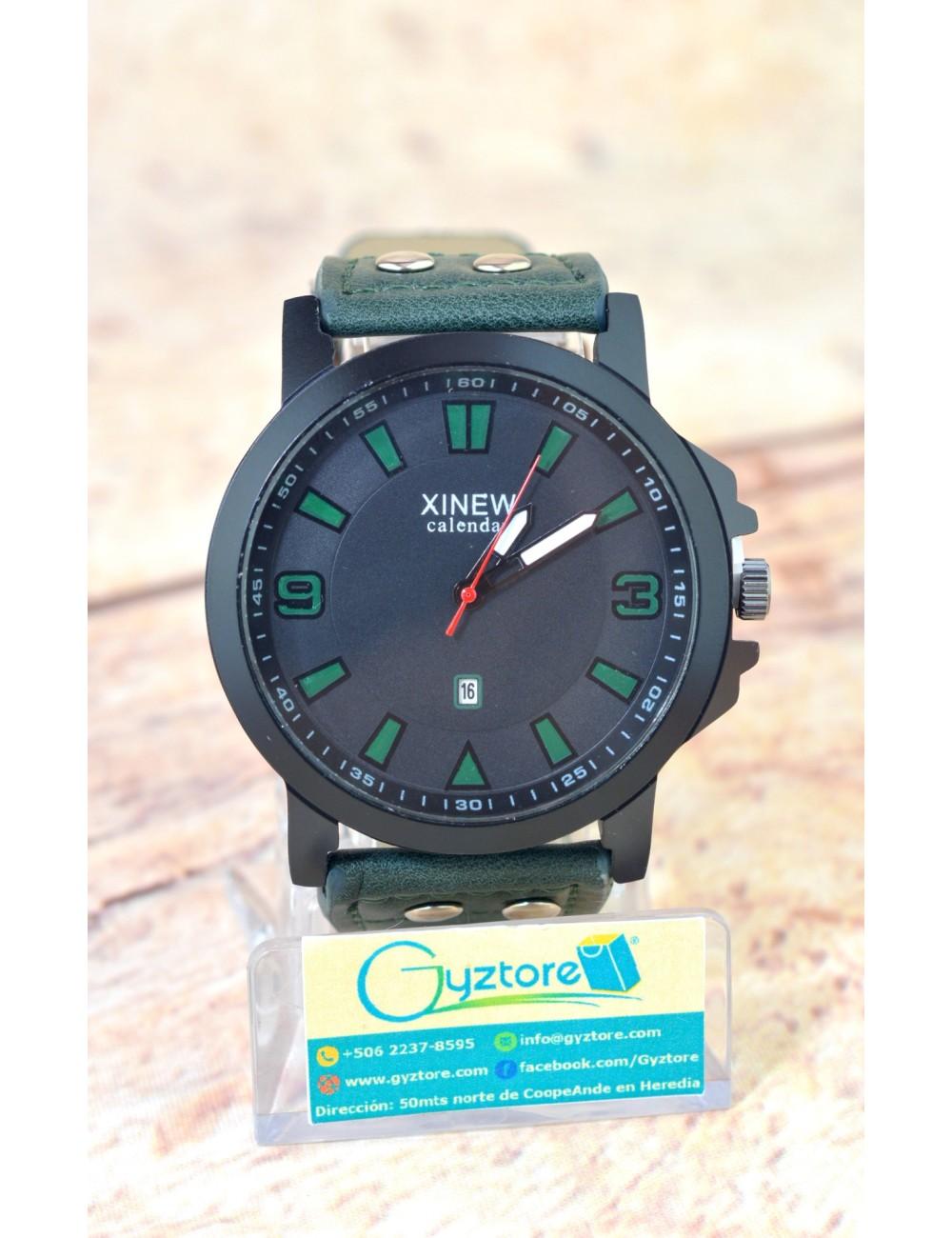 Reloj XINEW Carátula Grande Faja de Cuero