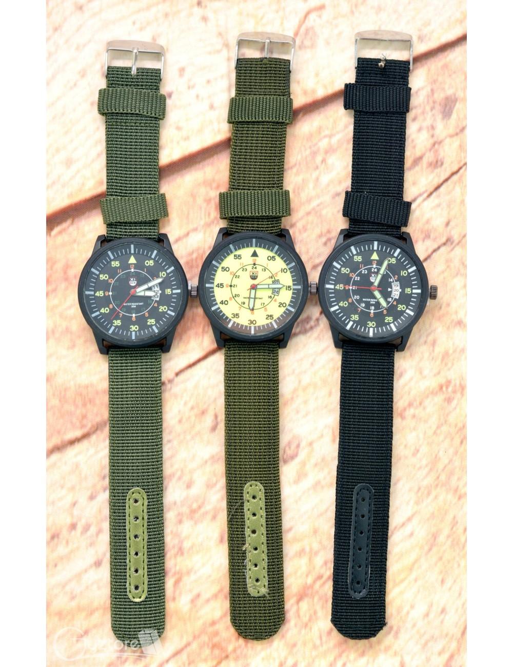 Reloj Militar Luminoso Faja de Nylon