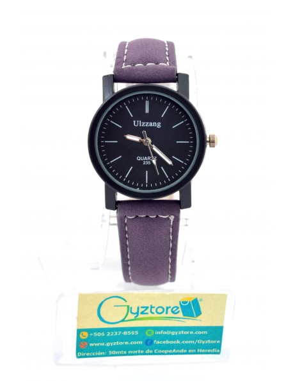 Reloj Morado Casual Carátula Pequeña