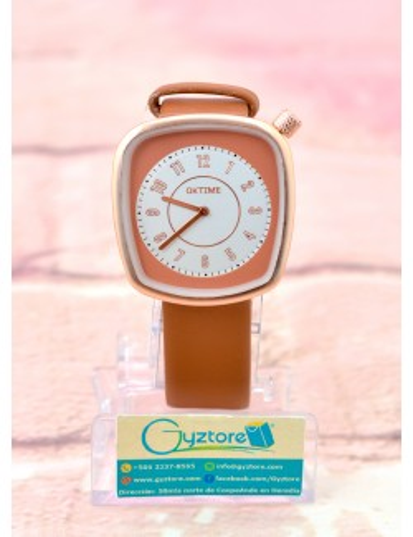 Reloj Elegante con Carátula Cuadrada