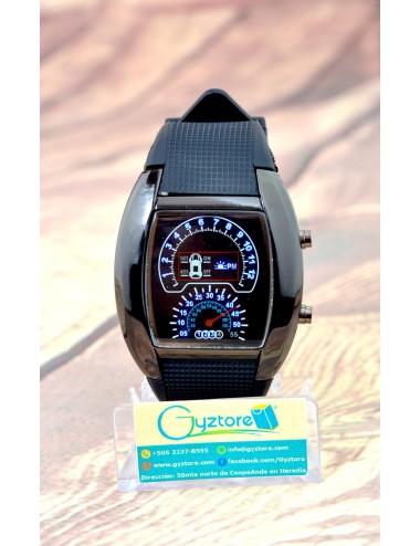 Reloj Deportivo Negro LED Diseño de Carro