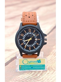 Reloj Casual Cafe con Calendario Giratorio