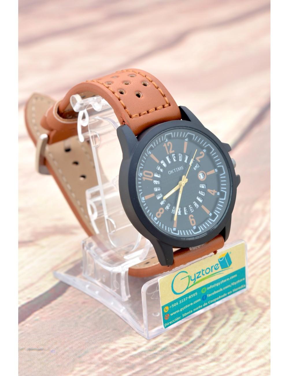 Reloj Casual Cafe con Calendario Giratorio
