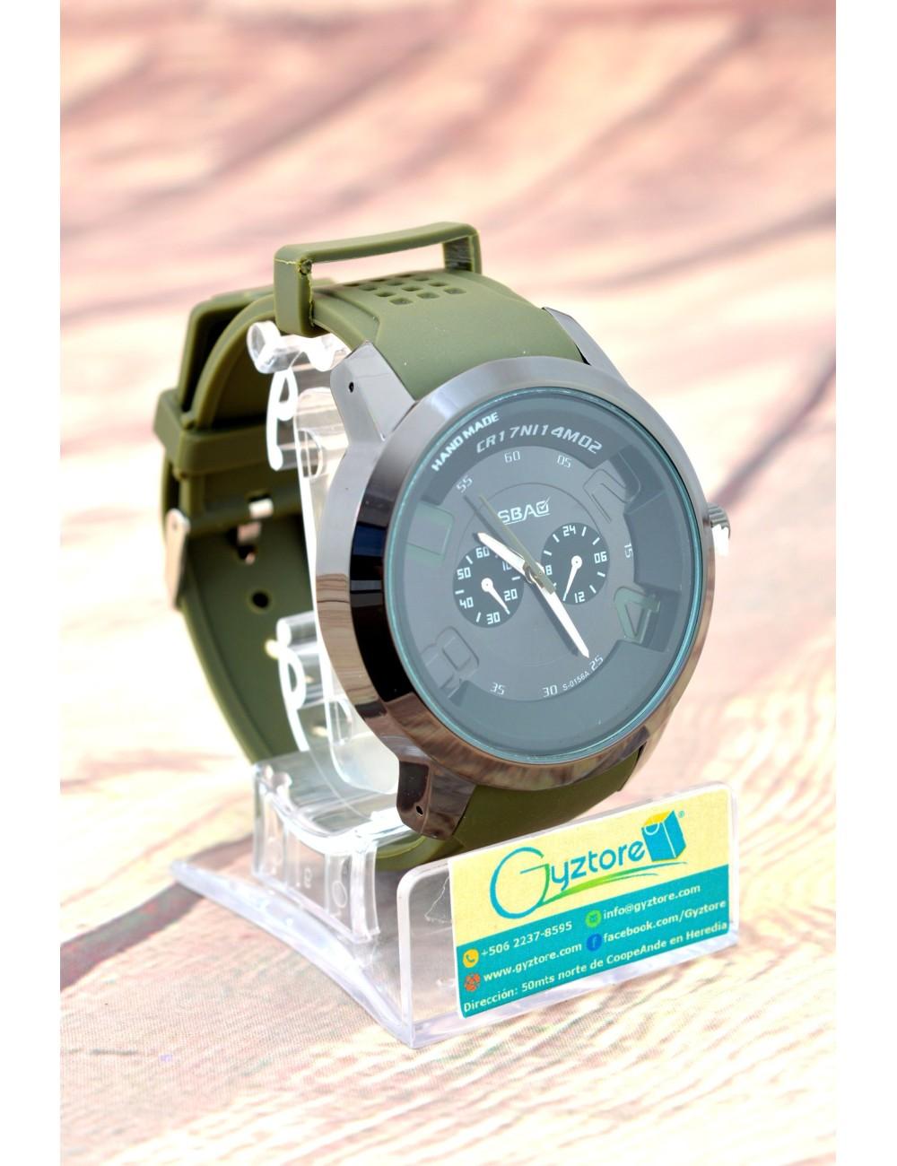 Reloj Verde Muzgo Deportivo Carátula Redonda
