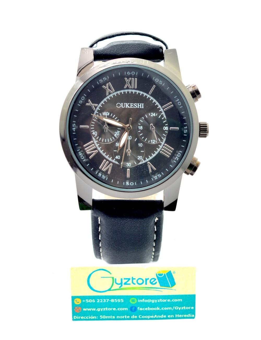 Reloj Casual Azul Carátula Negra
