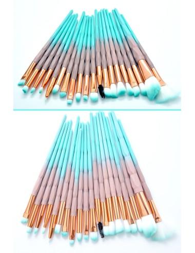 Set 20 brochas diseño de diamente menta con beige