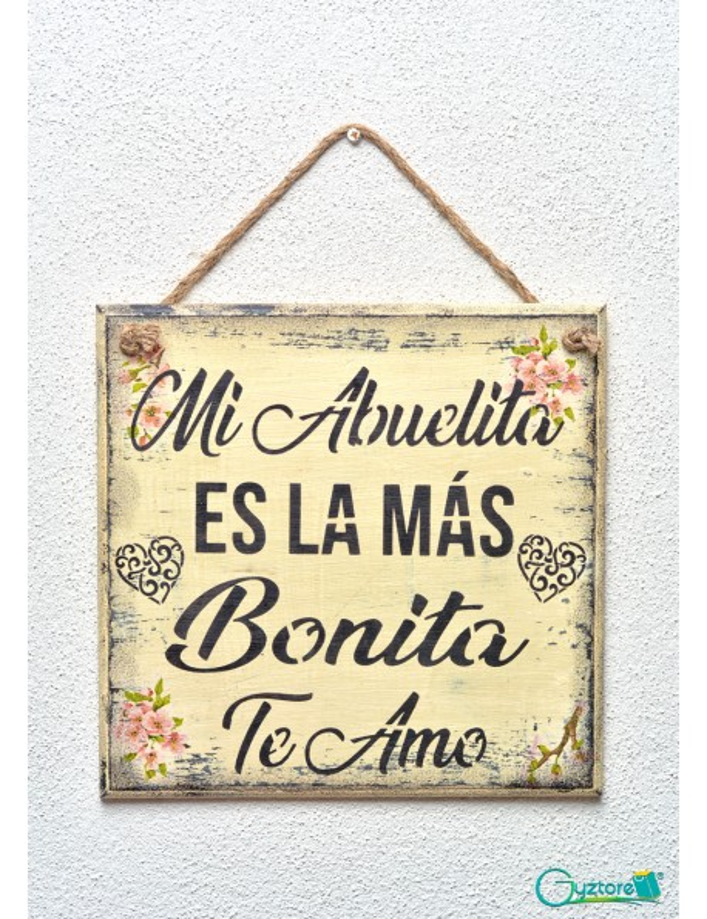 "Cuadro artesanal ""Mi Abuelita es la más bonita"""