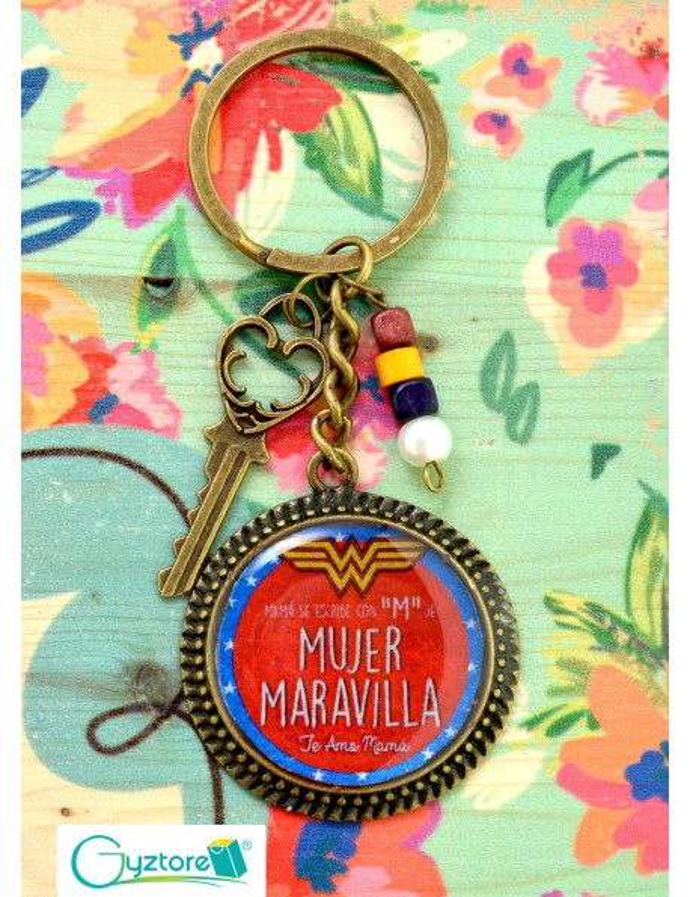 """Llavero Artesanal """"El amor de una madre no contempla lo imposible"""""""