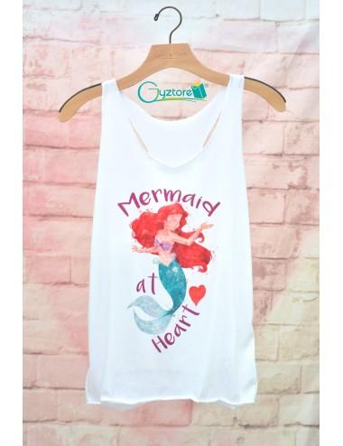 "Blusa de tirantes ""Mermaid at Heart"""