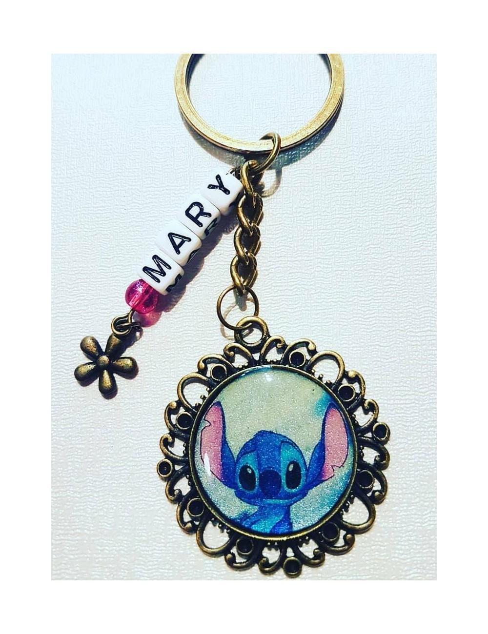 Llavero artesanal diseño de Stitch