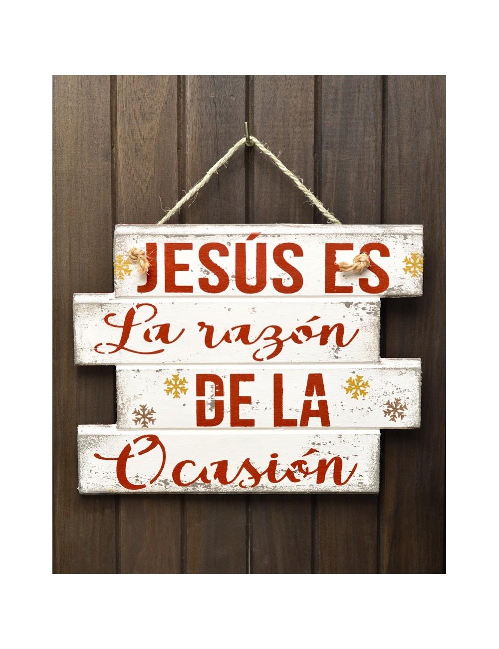 """Cuadro artesanal """"Jesús es la razón"""""""