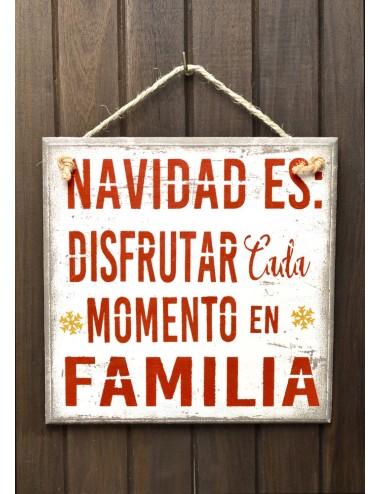 """Cuadro artesanal """"Navidad es Familia"""""""