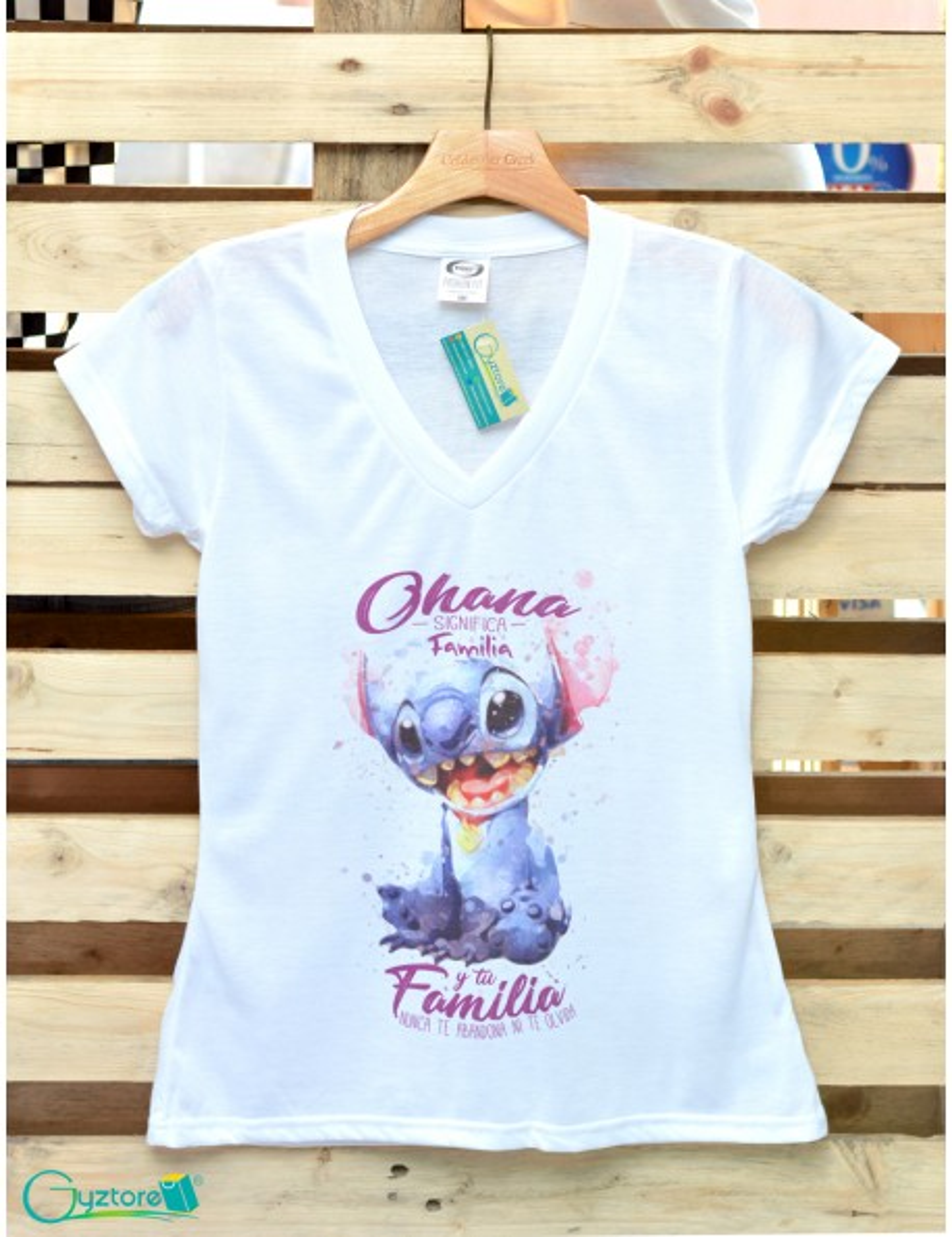 Blusa diseño de Stitch Ohana