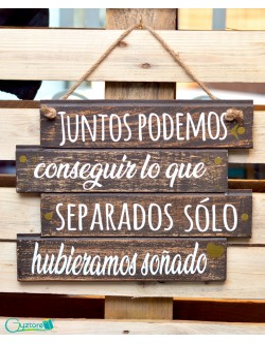 "Cuadro artesanal ""Juntos podemos"""
