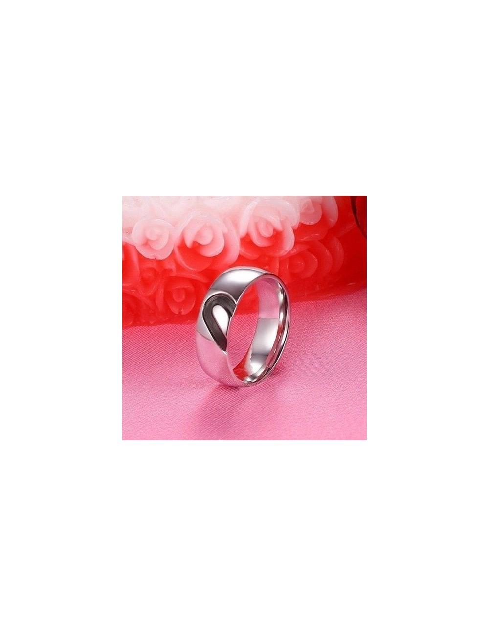 Anillos para parejas de Acero diseño de corazón