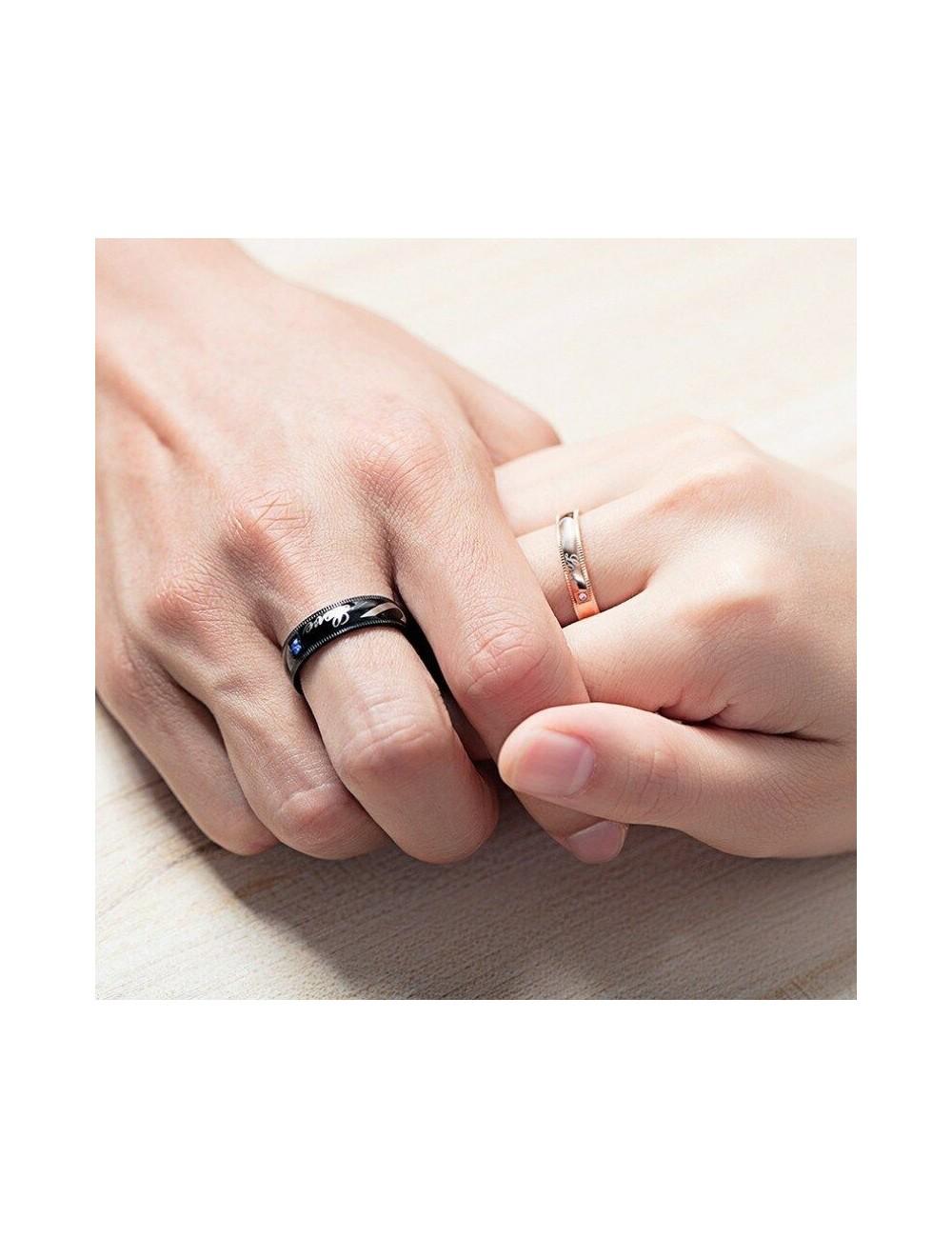 Anillos para parejas de Titanio diseño Love