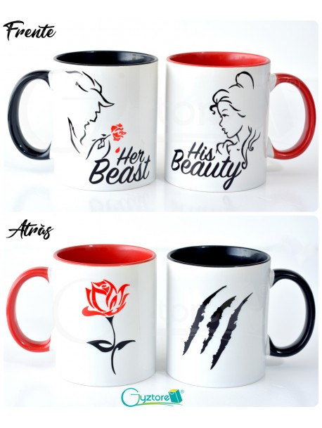 Tazas para parejas 'His Beauty and Her Beast'