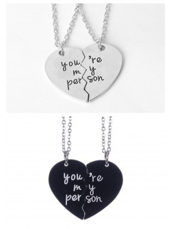 Collar para parejas ''You're my Person''