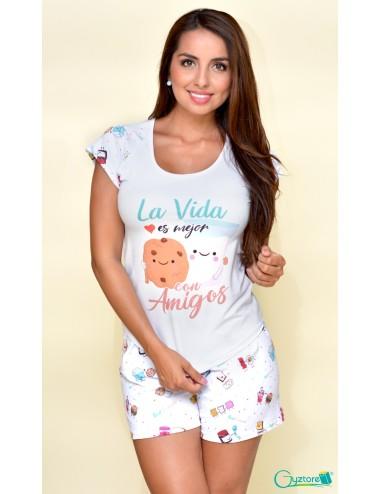 """Pijamas """"La vida es Mejor con Amigos"""""""
