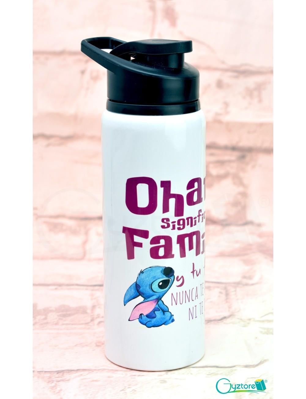 """Botella Stitch """"Ohana significa familia"""""""