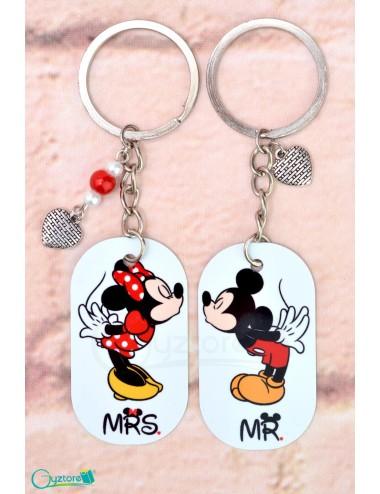 Llavero para parejas de Minnie y Mickey